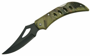 "4"" CAMO EAGLE EYE BLACK BLADE FOLDER"
