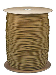 Coyote Tan Parachute Cord Paracord Type III Military Specification 550