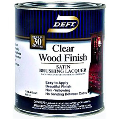 Deft Clear Wood Brush-on Lacquer - Gallon - Satin