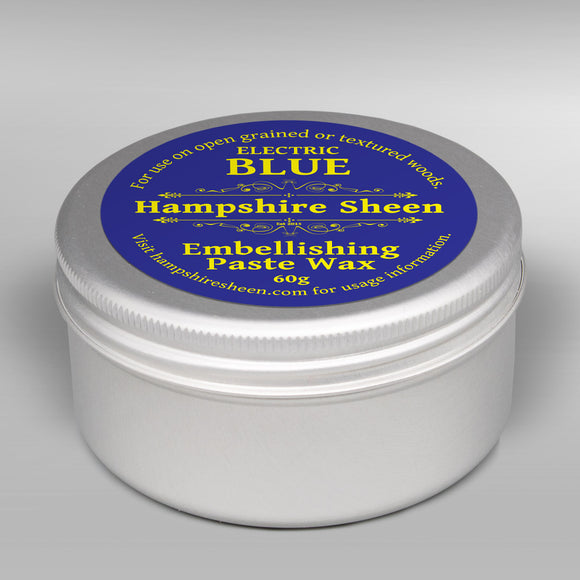 Hampshire Sheen - Embellishing Wax -  Electric Blue - 60 grams / 2.11 ounces