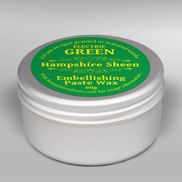 Hampshire Sheen - Embellishing Wax -  Electric Green - 60 grams / 2.11 ounces