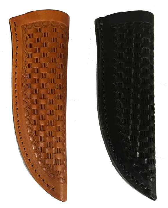 Knife Sheath Tooled Leather - SH300 - 1 1/8