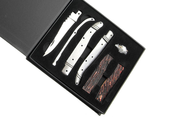 Laguiole Folder Kit with Amber Jigged Bone Handles - WoodWorld of Texas