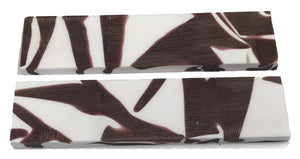 "Knife Scales - Maroon Pride - 6""x1.5x5/16 pair - Acrylic Acetate"