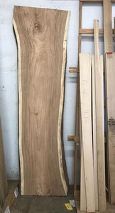 "Monkey Pod Natural Edge Slab  135""  Long  4"" max Thickness 33""-40"""" Wide"