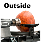 "Robust Woodturning Tools  - Rests 1"" Tool Post - Inside or Outside Curved"