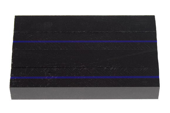 Thin Blue Line - Acrylic Pen Blank - 3/4