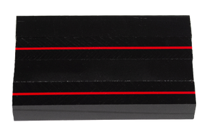 "Thin Red Line - Acrylic Pen Blank - 3/4"" x 3/4"" x 5"""