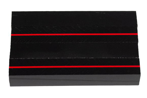 Thin Red Line - Acrylic Pen Blank - 3/4