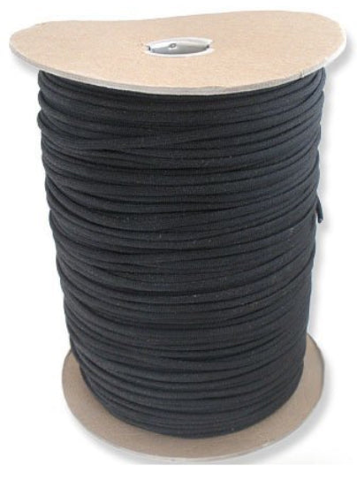 Black Parachute Cord Paracord Type III Military Specification 550
