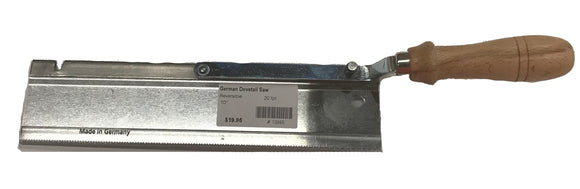 German Hand Saw - Dovetail Saw - Reversible - 20 tpi - 10