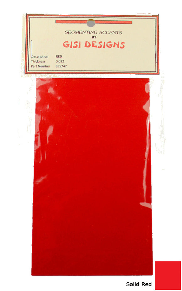 Accent Sheets - Red - Solid