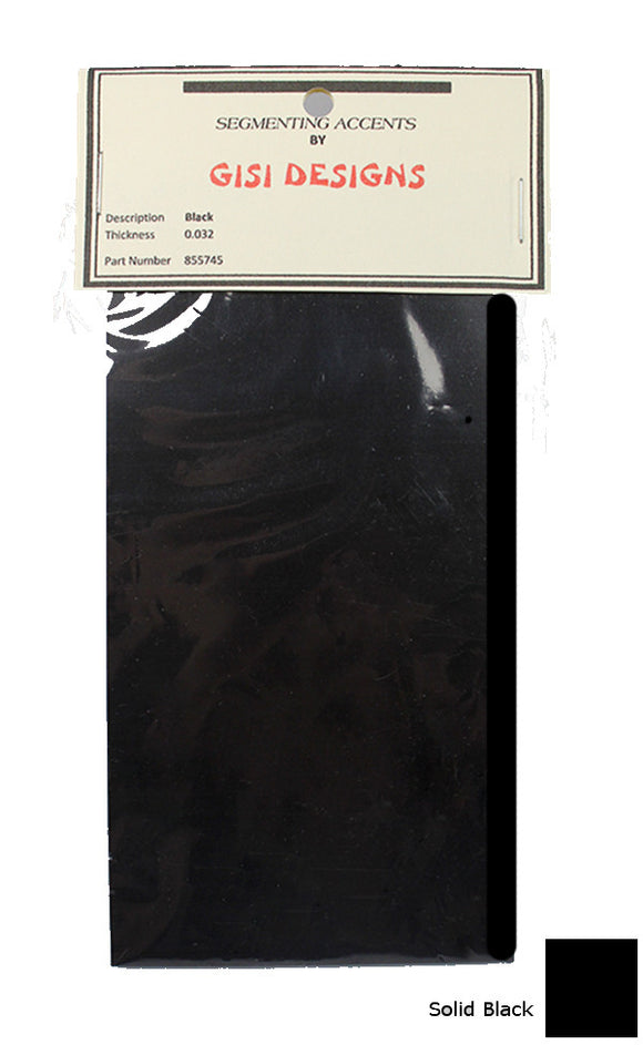 Accent Sheets - Black - Solid