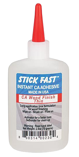 Stick Fast CA - Wood Finish - Thin  4.6 oz