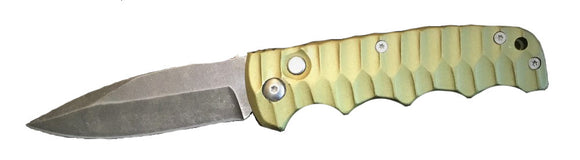 Green Handle Strugis Switch Blade Folder - WoodWorld of Texas