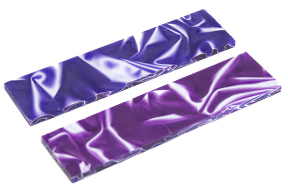 Knife Scales - Blue Purple Swirl 5