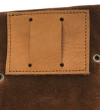 "Sued Leather Scraper Wallet - 4  3.25""x6.5"" pockets / dividers"