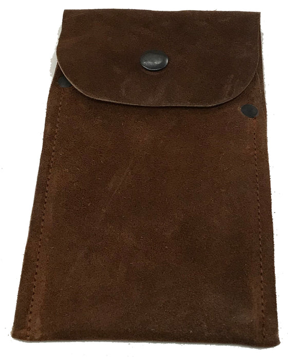 Sued Leather Scraper Wallet - 4  3.25
