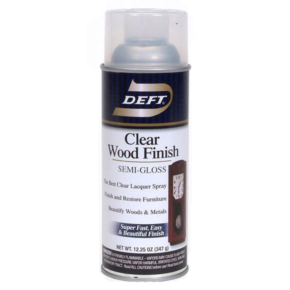 Deft Clear 12 oz Aerosol  Lacquer - Semi Gloss
