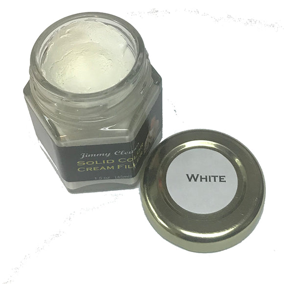 Jimmy Clewes Solid Color Cream Filler - White
