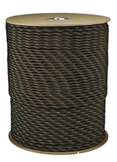 Woodland Camo Parachute Cord Paracord Type III Military Specification 550