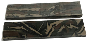 Knife Scales - Acrylic Woodland Camo - WoodWorld of Texas
