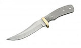 "Economy - 9"" SWEPT SKINNER BLADE W/ BRASS GUARD - WoodWorld of Texas"