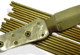 "Pin Material - Brass  Rod 5/16"" x 6"" Long - WoodWorld of Texas"