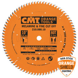 "CMT INDUSTRIAL MELAMINE AND FINE CUT-OFF SAW BLADES 10"" 80 tooth (Only 1 Left) - WoodWorld of Texas"