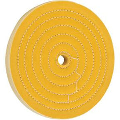 "Buffing Wheel - Hard Muslin 8"" x 50 Ply x 3/4"" Hole"