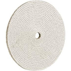 "Buffing Wheel - Hard Spiral Sewn 8"" x 1/2"" Ply x 3/4"" Hole"
