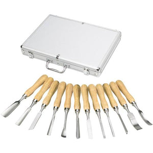 Shop Fox  12 Pc.  Carving Chisel Set in Aluminum Case - WoodWorld of Texas