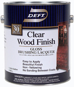 Deft Clear Wood Brush-on Lacquer - Gallon - Gloss