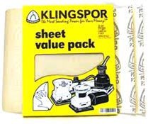 Klingspor 9x11 Sand Paper Sheets 25 Pack 80-2,000 Grit - WoodWorld of Texas