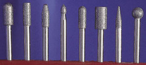 "Master Carver 1/8"" 8PC DIAMOND PT SET COARSE (50 GRIT)"
