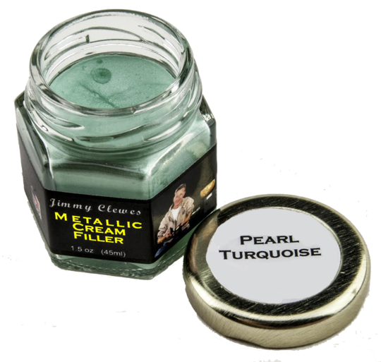 Jimmy Clewes Metallic Cream Filler - Pearl Turquoise