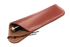 Texas Style Pen Sleeve - Handmade Leather - Reddish Brown