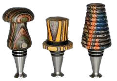 Ruth Niles Stainless Steel Bottle Stoppers the Display Model- Made in USA - WoodWorld of Texas