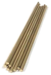 "Pin Material - Brass  Rod 1/4"" x 6"" Long - 5 pack"
