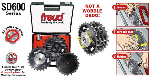 Freud Dial - a - Width Stacked Dado Set - SD608