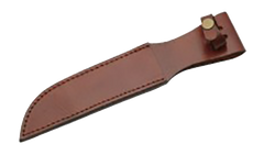 "Knife Sheath Leather - SH660012 - 12"" Thumb Snap"