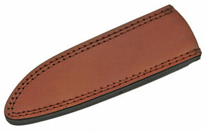 "Knife Sheath Leather - SH660610 - 2.5"" x 8.25"" Open Top - WoodWorld of Texas"