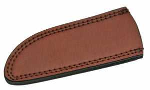 "Knife Sheath Leather - SH660709 - 2.75"" x 6.75"" Open Top Drop Point - WoodWorld of Texas"