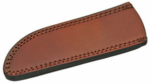 "Knife Sheath Leather - SH660710 - 2.5"" x 8.25"" Open Top Drop Point - WoodWorld of Texas"