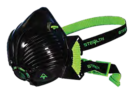 Stealth P3 Half Mask C/w Twin Hepac Filters - Respirator - Small / Medium