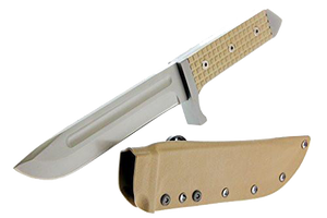 Stryker Military Knife With Sheath & Scales