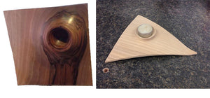 Sat. Dec. 3rd - Jimmy Clewes Off-Set Sushi Patter & Triangle Tealight Holder- Option 1 - WoodWorld of Texas