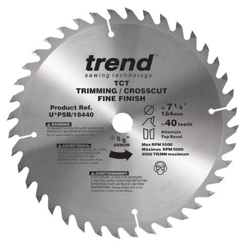 Trend PRO SAW BLADE 10 X 60T X 5/8 THIN Finish