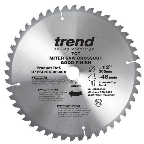 Trend PRO SAW BLADE 12 X 64T X 1 Thin Finish