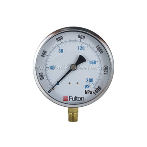 FULTON 0-200 PSI STEAM PRESSURE GAUGE (FN230333)